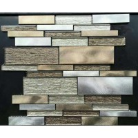 glass tiles for kitchen backsplash stainless steel mosaic tile interlocking mirror bathroom brushed aluminum designs JBST001