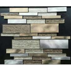 glass tiles for kitchen backsplash stainless steel mosaic tile interlocking mirror bathroom brushed aluminum designs JBST001