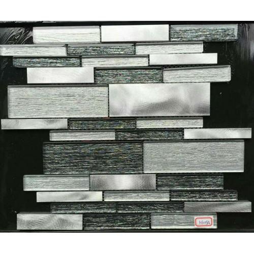 glass tiles for kitchen backsplash stainless steel mosaic tile interlocking mirror bathroom brushed aluminum designs JBST002