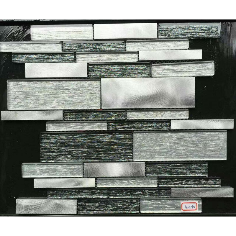 glass tiles for kitchen backsplash stainless steel mosaic tile interlocking  mirror bathroom brushed aluminum designs JBST002