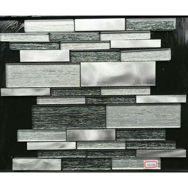 Brushed Stainless Steel Backsplash: Aluminum Glass Tiles For Kitchen Backsplash Stainless
