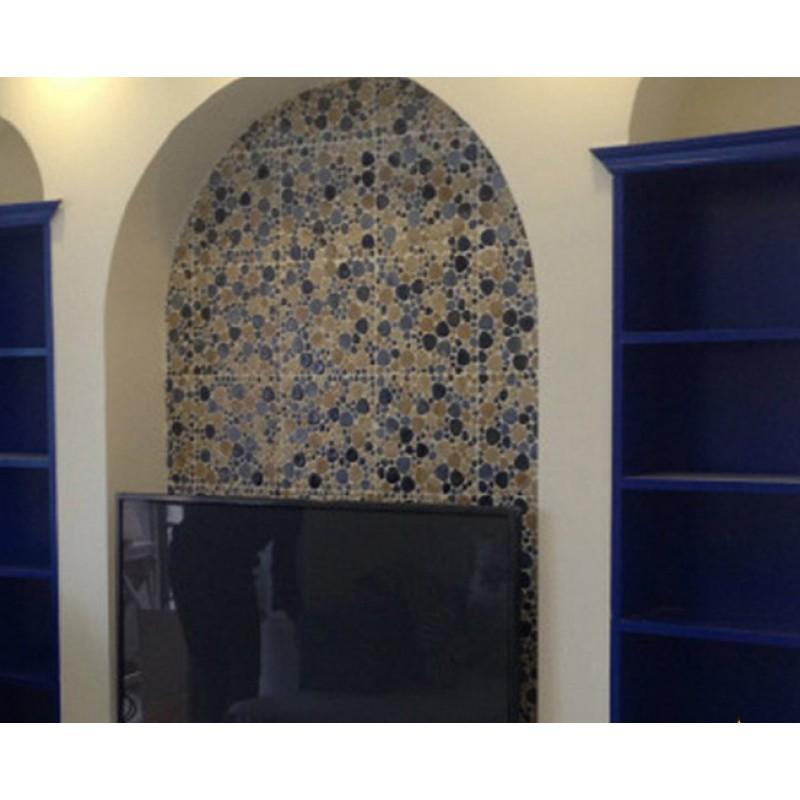 ... Porcelain Pebble Tile Bathroom Wall Tiles Glazed Ceramic Mosaic Tile  Kitchen Backsplash Pebbles Cheap Shower Mosaic ...
