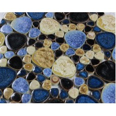 Porcelain pebble tile bathroom wall tiles glazed ceramic mosaic tile kitchen backsplash pebbles cheap shower mosaic floor tiles PP6655