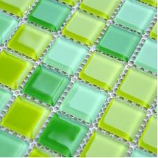Crystal Glass Mosaic Tile Sheet  Wall Stickers Kitchen Backsplash Tile Floor Stickers Design Bathroom Shower Pool Tile JKX03