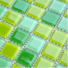 Crystal Glass Mosaic Tile Sheet  Wall Stickers Kitchen Backsplash Tile Floor Stickers Design Bathroom Shower Pool Tile JKX03