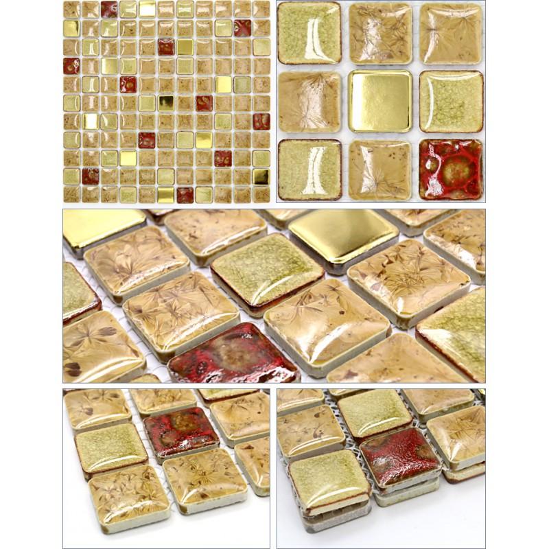 Porcelain Mosaic Tile Kitchen Backsplash Glazed Ceramic Floor Tiles Jn002 Bathroom Shower Stickers Mirrored Wall