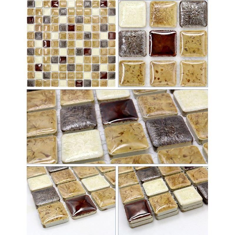 Porcelain Mosaic Tile Kitchen Backsplash Glazed Ceramic Floor Tiles Jn003 Bathroom Shower Stickers Mirrored Wall