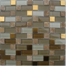 Metal Tile Backsplash Kitchen Design Crystal Glass & Stone Blend Mosaic Natural Marble Wall Stickers Bathroom Floor Plated JSQFW
