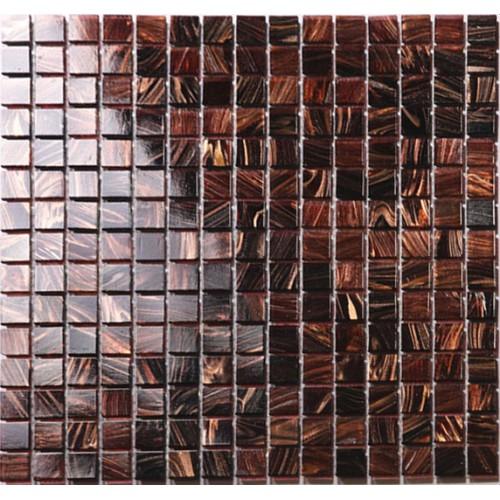 vitreous glass mosaic shower tiles design brown glass tile