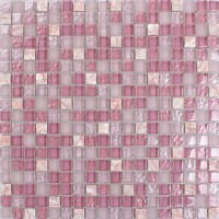 "Pink glass stone tile mosaic square 3/5"" frosted glass tiles kitchen backsplashes natural stones shower wall backsplash SG1638"