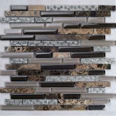 Natural stone and glass mosaic tile backsplash ideas bathroom deep emperador marble floor tiles cheap kitchen wall stone tiles SG8836