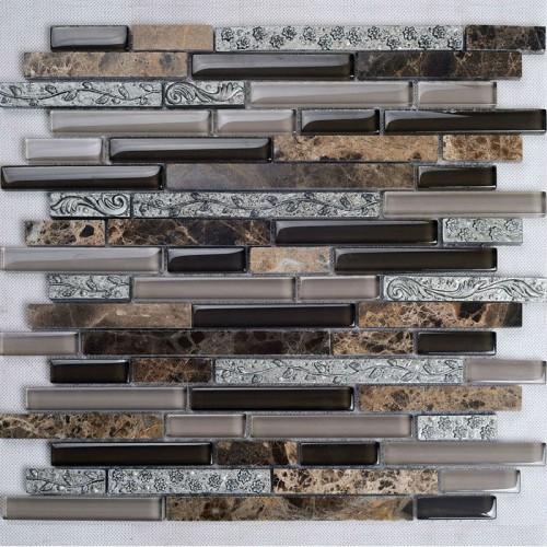 natural stone and glass mosaic tile backsplash ideas bathroom deep