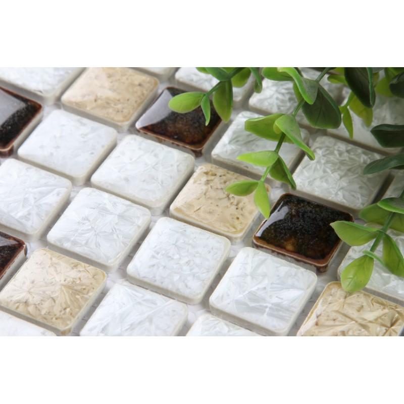Glazed Porcelain Tile Backsplash Kitchen Bathroom Wall Stickers Kl 333 1 Inch Mosaic