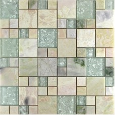 Crystal Glass Tile sheets Stone mix Glass Mosaic Wall Tiles Glass Mosaic designs for Bathroom Wall designs Marble Tile KL243