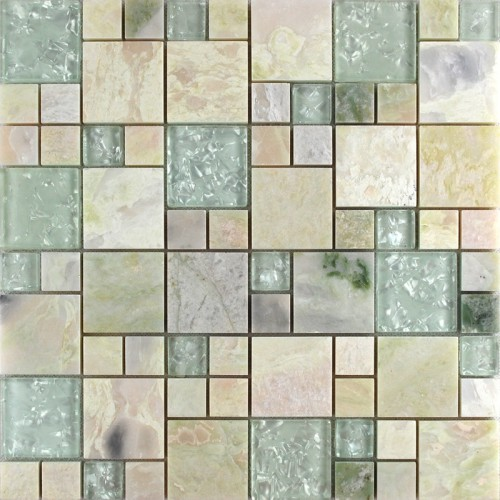 Crystal Gl Tile Sheets Stone Mix Mosaic Wall Tiles Designs For Bathroom