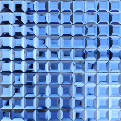 Blue Gl Mosaic Tile Backsplash Pyramid Shower Wall Tiles Design Seamless Crystal