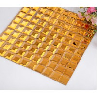 gold 5 side glass mirror tile crystal glass mosaic wall tile kitchen backsplashes hall wall tile washroom bathroom decor KLGT921