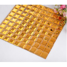 gold 5 side glass mirror tile crystal glass mosaic wall tile kitchen backsplashes hall wall tile washroom bathroom decor KLGT921