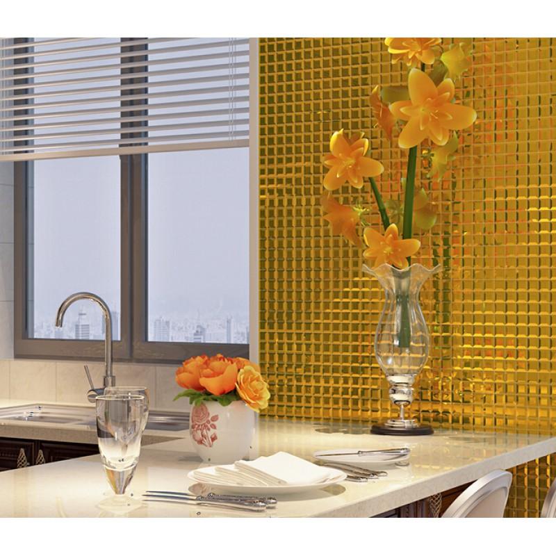 Pyramid glass tile backsplash ideas bathroom mosaic mirror ...