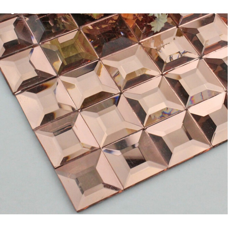 Pyramid glass tile backsplash ideas bathroom mosaic mirror Mosaic kitchen wall tiles ideas