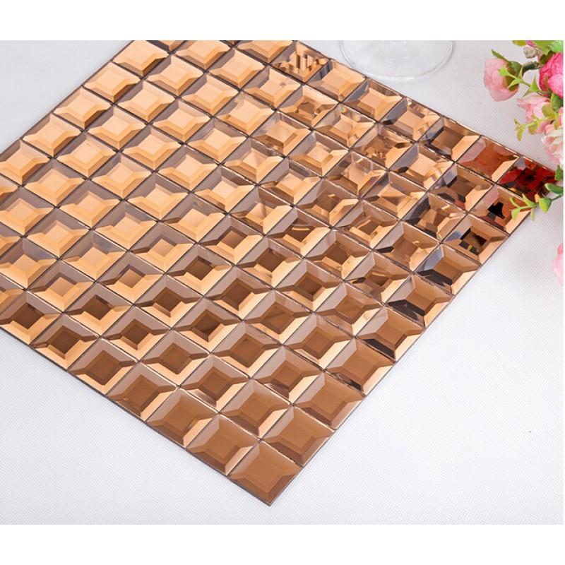pyramid glass tile backsplash ideas bathroom mosaic mirror seamless