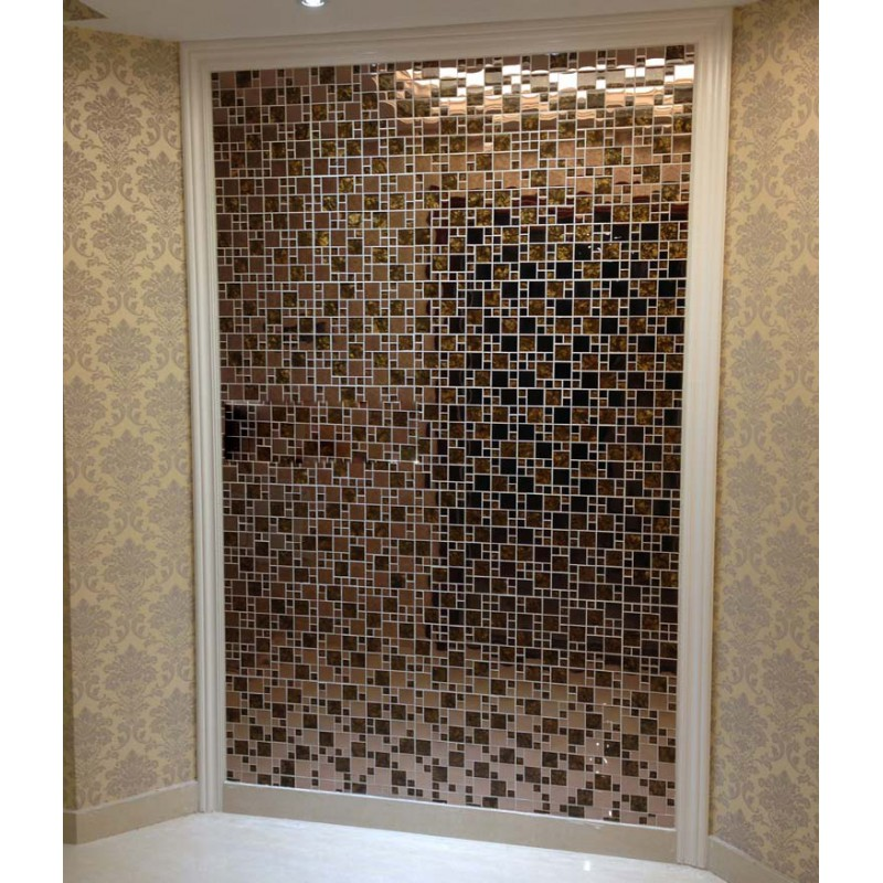 Glass Tiles In Bathroom: Gold Stainless Steel Backsplash For Kitchen And Bathroom