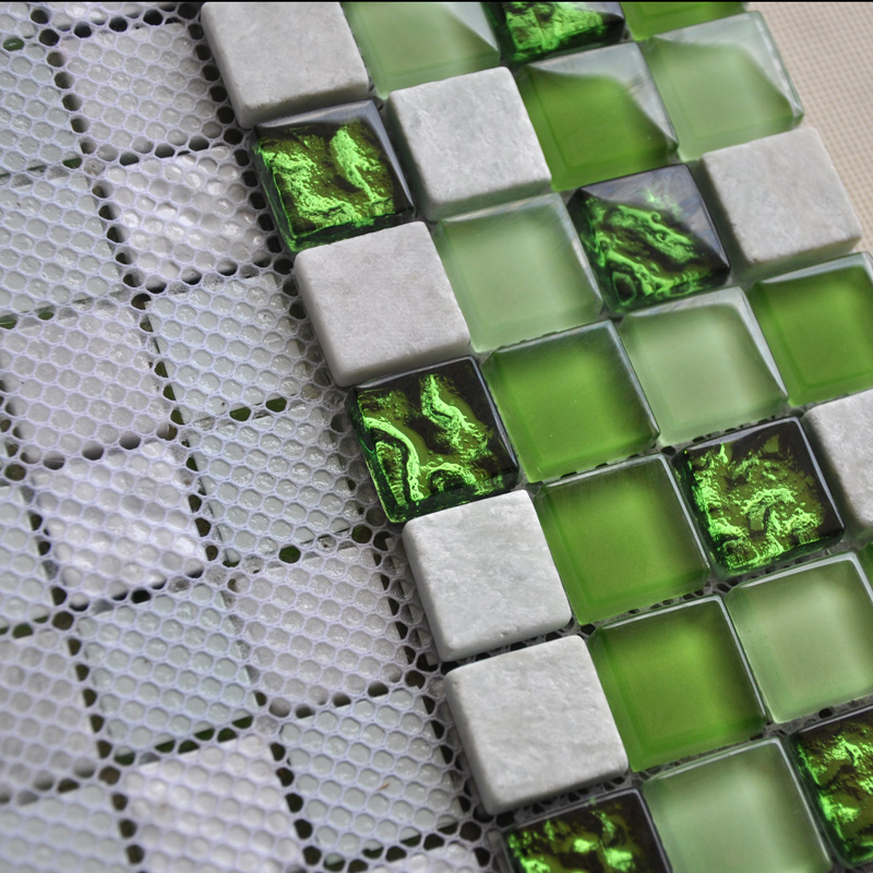 Ice Crack Glass Mosaic Tile Kitchen Backsplash Wall Stone Mosaics