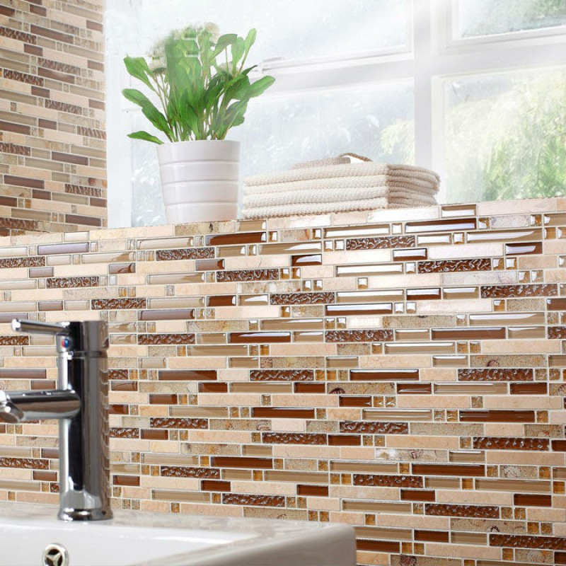 mosaic tile sheets kitchen backsplash tiles interlocking marble