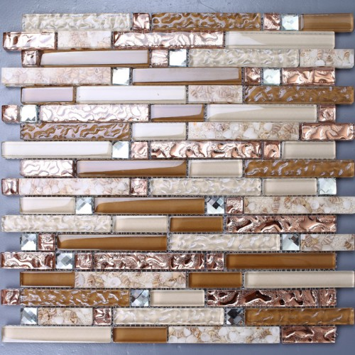 Crystal Glass Mosaic Sheet Wall Stickers Kitchen Backsplash Tile Shell Floor Stickers Design Bathroom Shower Pool Transparent