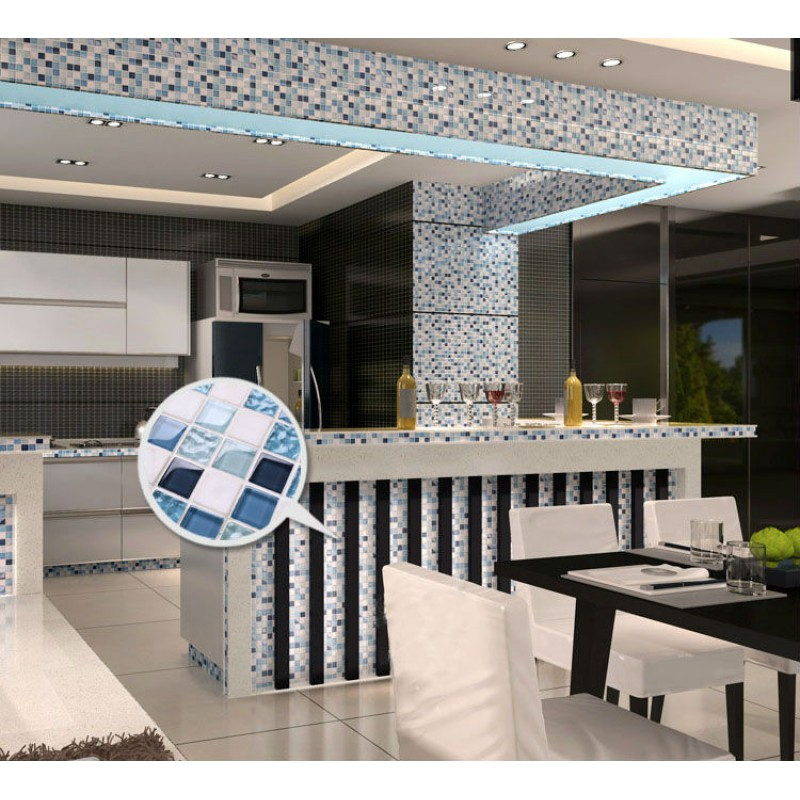Crystal mosaic tile backsplash kitchen design blue glass stone p913.jpg