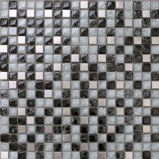 Black and white mosaic tile crackle glass patterns kitchen backsplashes cheap stainless steel backsplash metal tile sheets MGTS33
