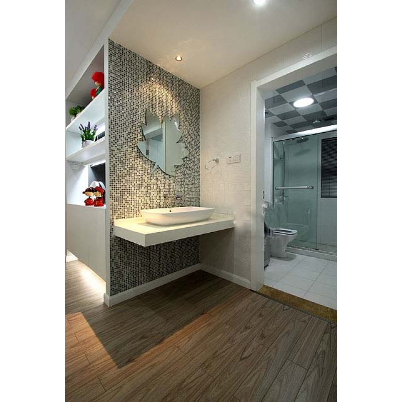 ... Crackle Crystal Mosaic Diamond Silver Plating Glass Tile Backsplash  Natural Marble Tile Bathroom Mirror Backsplashes Wall