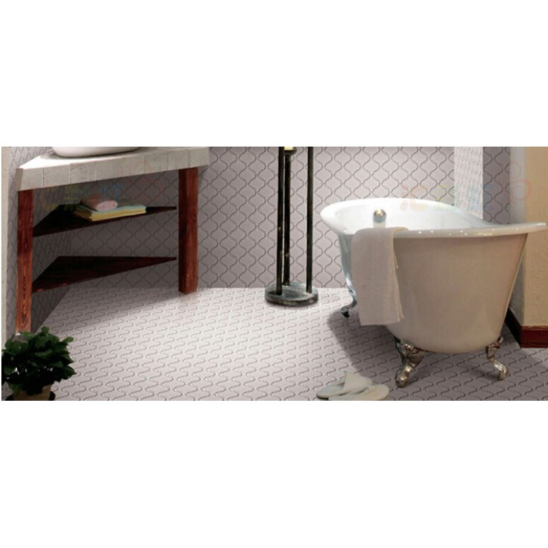 Matte White Lantern Porcelain Tile Bathroom Washroom Wall