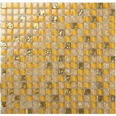 Crystal glass tile sheets ice crack square mosaic metal plated L309 kitchen backsplash tiles wall mirror bathroom flooring
