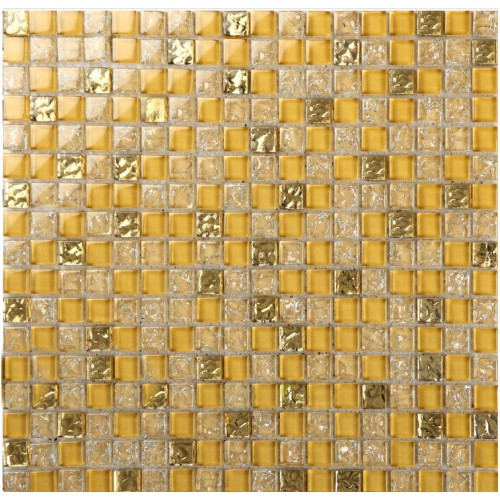 Crystal glass tile sheets ice crack square mosaic metal plated L309 kitchen backsplash tiles wall mirror bathroom flooring