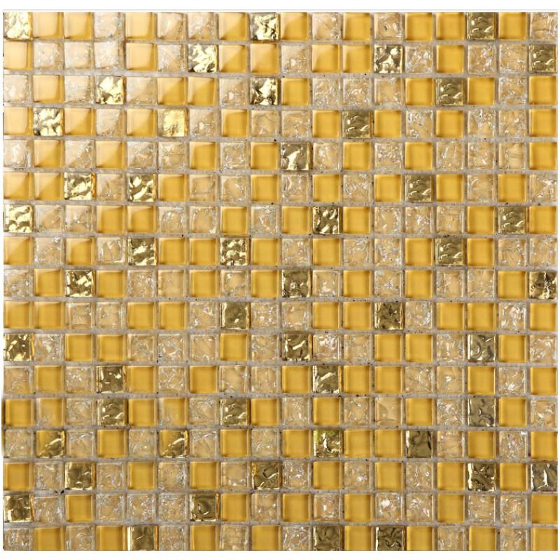 Crystal Gl Tile Sheets Ice Square Mosaic Metal Plated L309 Kitchen Backsplash Tiles Wall Mirror Bathroom Flooring