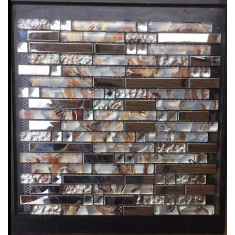 diamond glass tiles for kitchen backsplash silver stainless steel