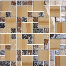 crackle crystal glass tile backsplash cheap brown mosaics bathroom mirror wall tiles MA13 kitchen backs plash cracked glass mosaic designs