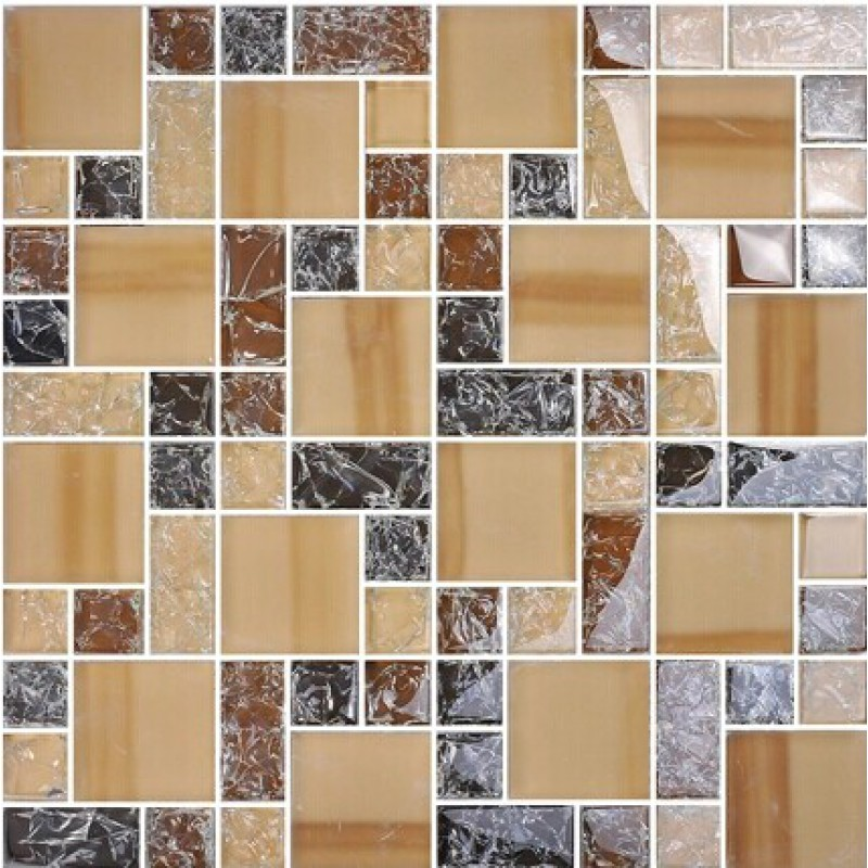 Le Crystal Gl Tile Backsplash Brown Mosaics Bathroom Mirror Wall Tiles Ma13 Kitchen Backs Plash Ed Mosaic Designs