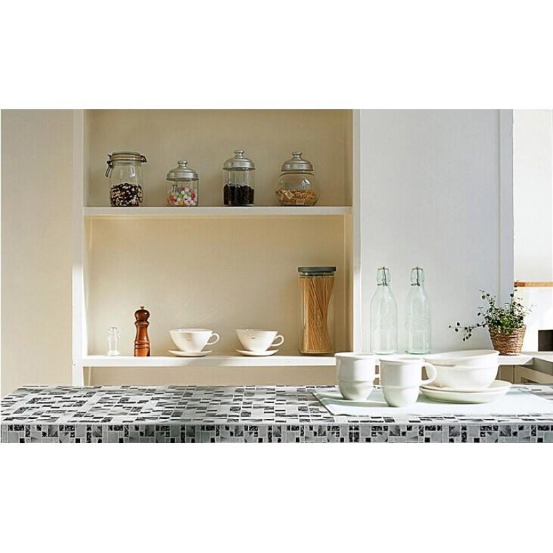 Crackle Crystal Glass Tile Backsplash Cheap Kitchen Countertop Glass Mosaic  Sheets Cracked MA14 Black White Mosaics Bathroom ...