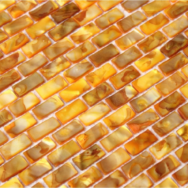 Freshwater Shell Subway Tile Mosaic Shower Bathroom Stained Gold Designs Mother Of Pearl Tiles Mb04 Seashell Deco Mesh Kitchen Backsplash