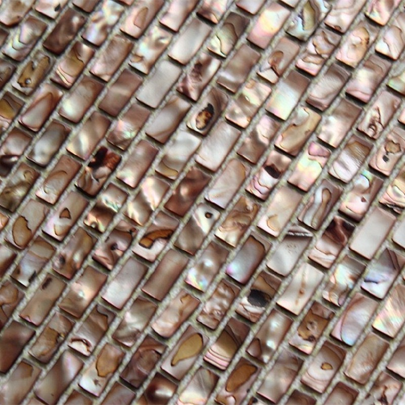 Freshwater Shell Subway Tile Mosaic Shower Bathroom Stained Brown Designs Mother Of Pearl Tiles