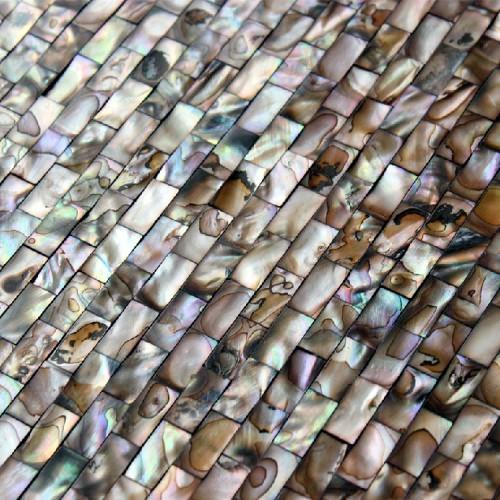 freshwater shell subway tile mosaic shower bathroom stained black designs mother of pearl tiles MB08 seamless seashell deco mesh kitchen backsplash tiles