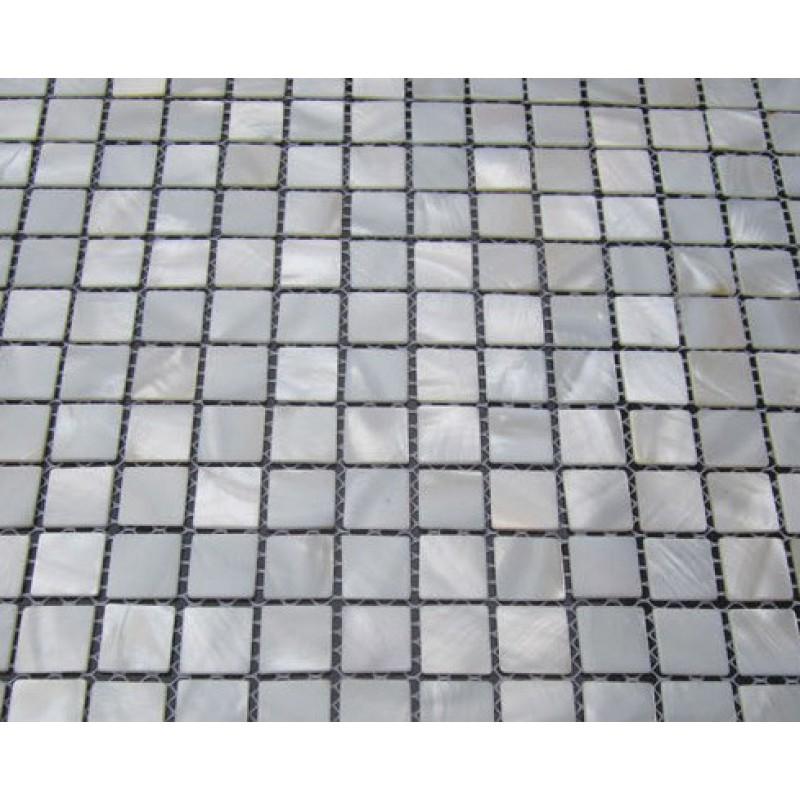 White Pearl Backsplash Part - 27: White Pearl Tile Backsplash In Kitchen Mother Of Shell Tiles For Bathrooms  Natural Seashell Mosaic Square ...