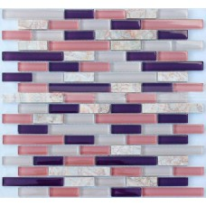 Interlocking Mosaic Tile Marble Tiles Backsplash Kitchen Ideas Stone Veins Pattern Mix Crystal Glass Tile Wall Stickers MC9302