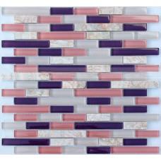 Interlocking Mosaic Tile Marble Tiles Backsplash Kitchen Ideas Stone Veins Pattern Mix Crystal Glass Tile Wall Stickers MC9302