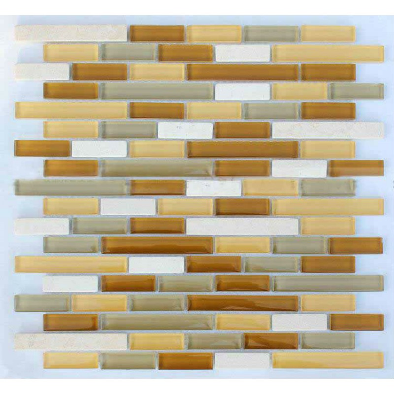 Glass Tile Backsplash Kitchen Design Colorful Crystal Glass Stone Blend Mosaic Marble Wall
