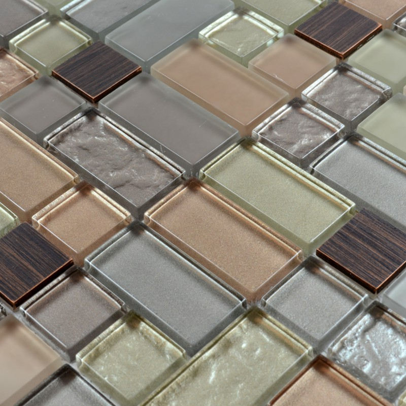 Crystal Mosaic Tiles Copper Maze Hand Painted Metallic Mosaics Pool Brick Border Mesh Sheet