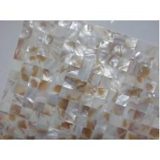 Mother of pearl tile backsplash ideas natural shell materials seamless seashell mosaic sheets kitchen and bathroom wall MPH006