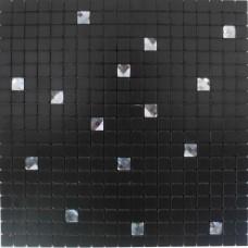 Black peel and stick wall tiles adhesive mosaic sheets metal glass diamond tile aluminum composite panel alucobond tiles MAMH15